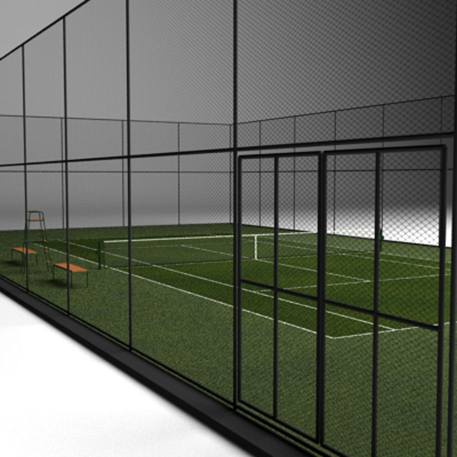Tennis courts collection royalty-free 3d model - Preview no. 7