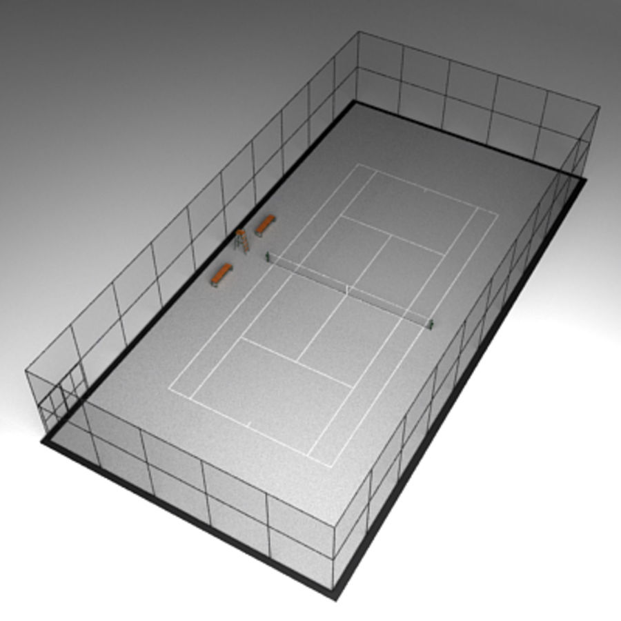 Tennis courts collection royalty-free 3d model - Preview no. 11