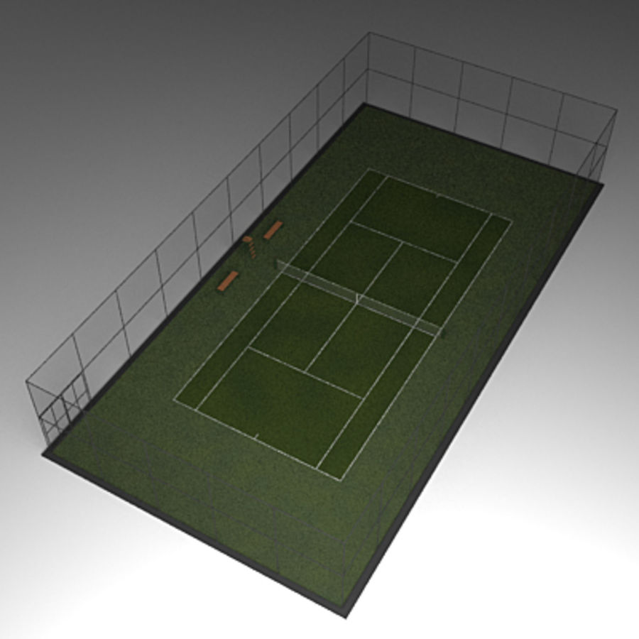 Tennis courts collection royalty-free 3d model - Preview no. 5