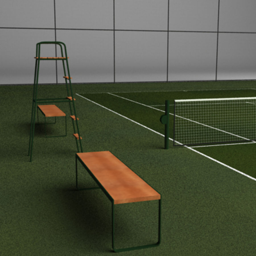 Tennis courts collection royalty-free 3d model - Preview no. 6