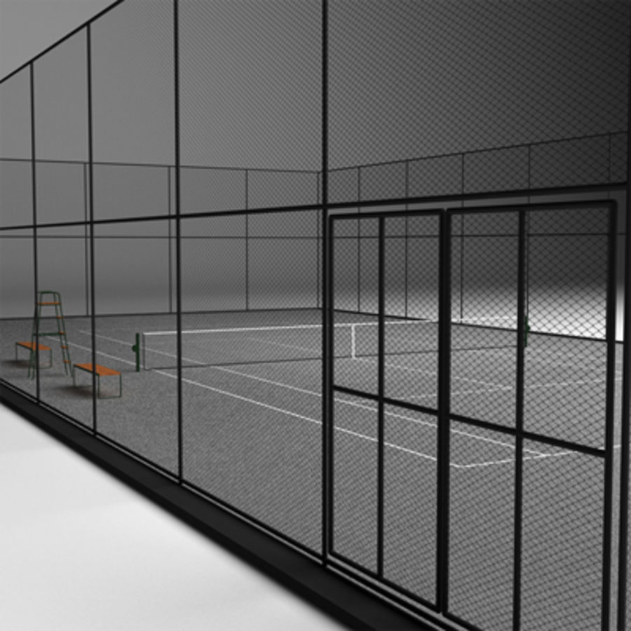 Tennis courts collection royalty-free 3d model - Preview no. 12