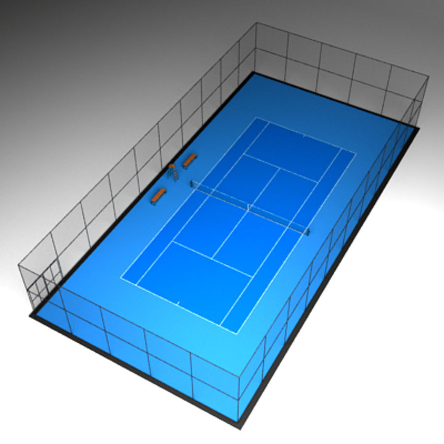 Tennis courts collection royalty-free 3d model - Preview no. 2