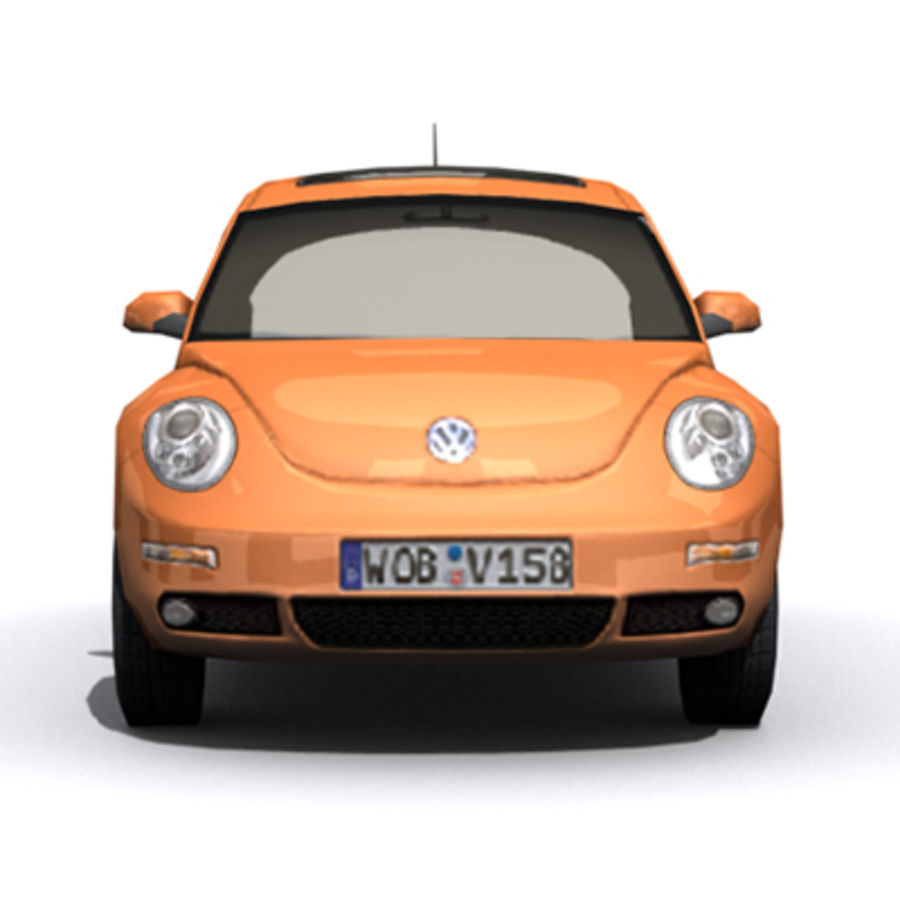 VW Beetle novo royalty-free 3d model - Preview no. 3