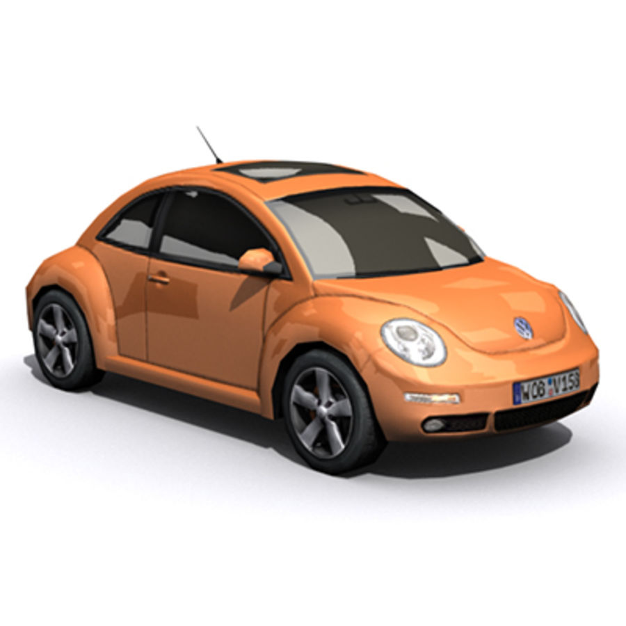 VW Beetle novo royalty-free 3d model - Preview no. 5