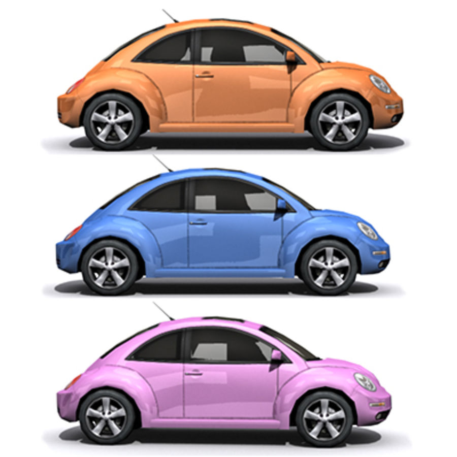 VW Beetle novo royalty-free 3d model - Preview no. 2