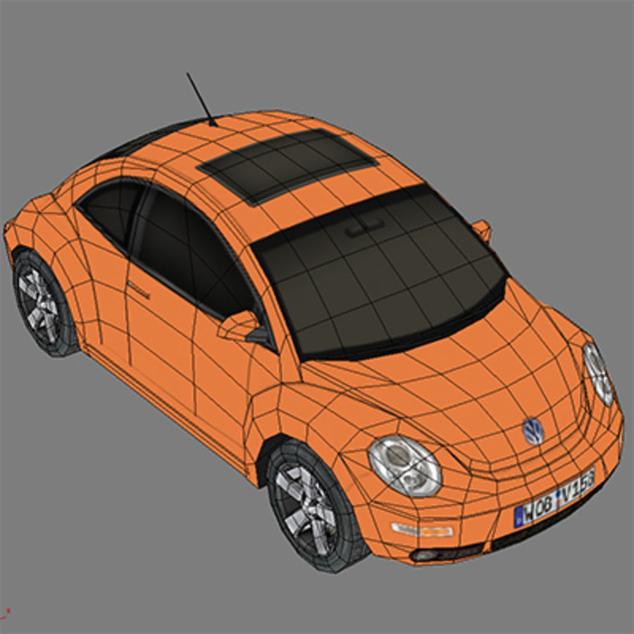 VW Beetle novo royalty-free 3d model - Preview no. 6