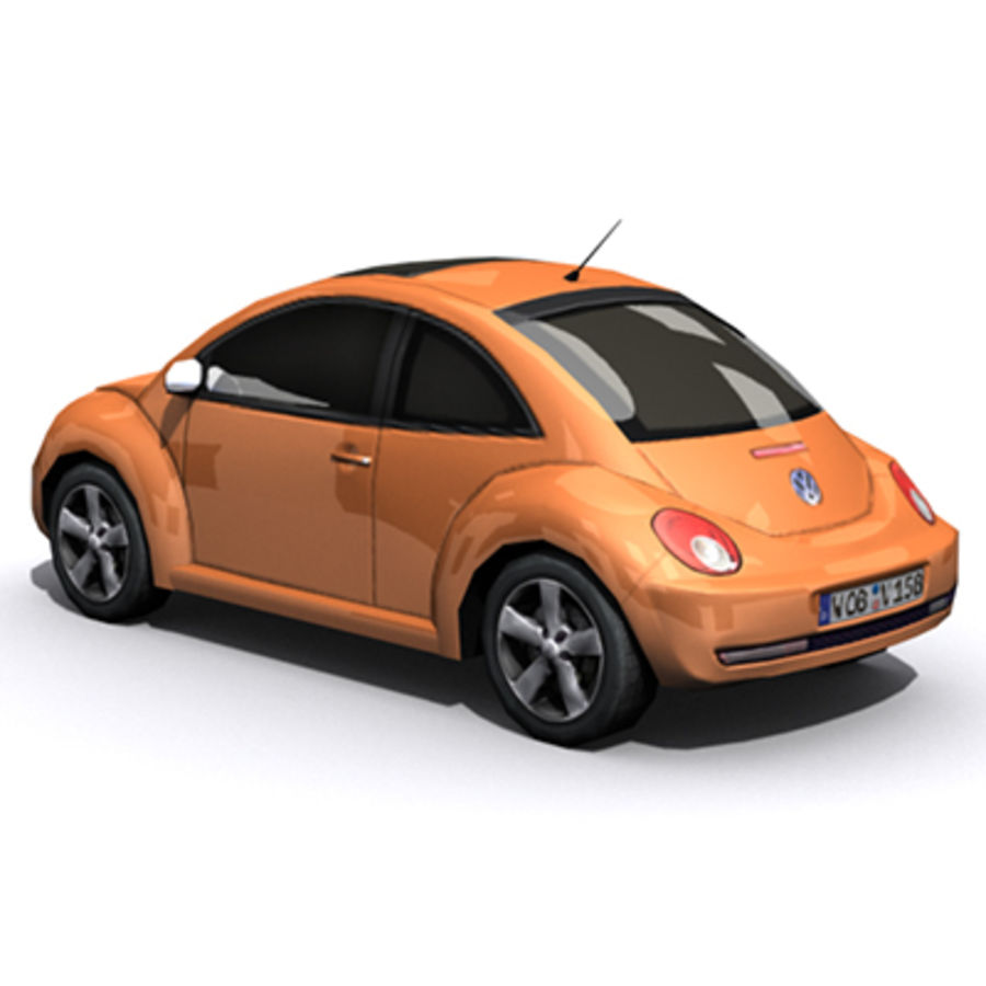 VW Beetle novo royalty-free 3d model - Preview no. 4