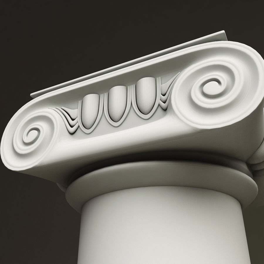 Ionic Order Column royalty-free 3d model - Preview no. 5