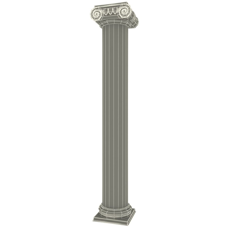 Ionic Order Column royalty-free 3d model - Preview no. 6