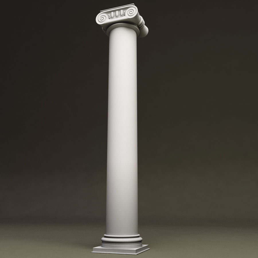 Ionic Order Column royalty-free 3d model - Preview no. 2