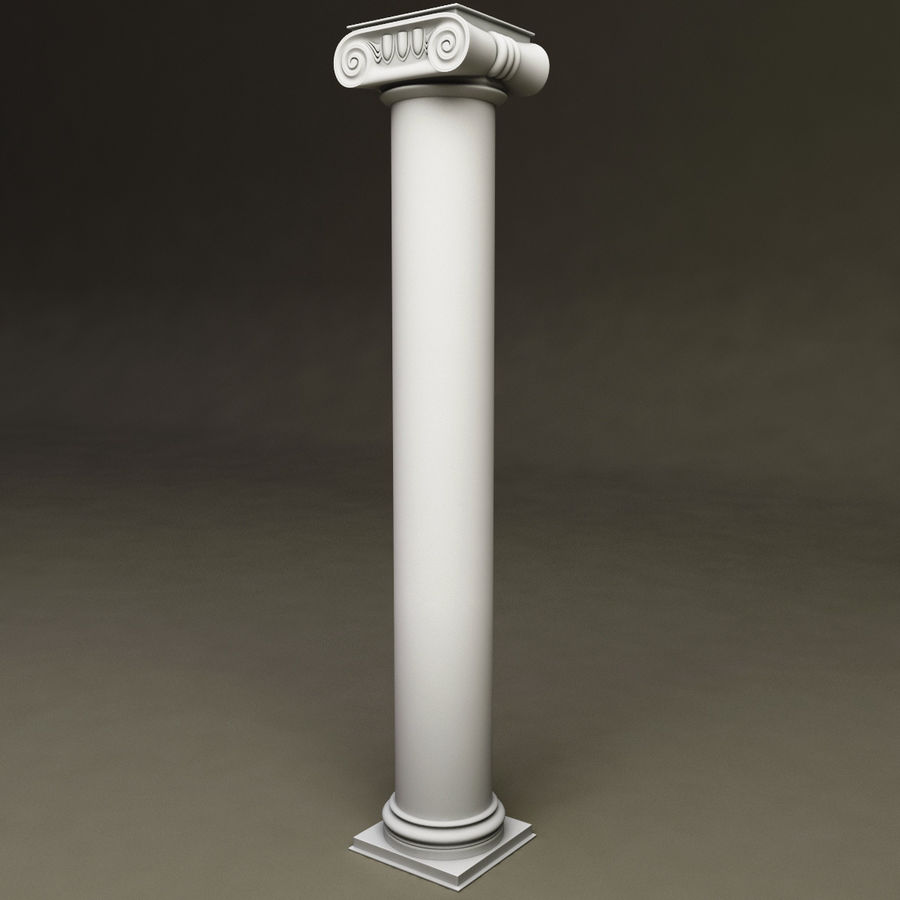 Ionic Order Column royalty-free 3d model - Preview no. 3