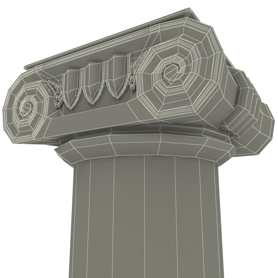 Ionic Order Column royalty-free 3d model - Preview no. 7