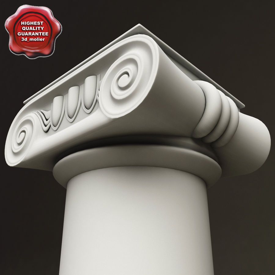 Ionic Order Column royalty-free 3d model - Preview no. 1