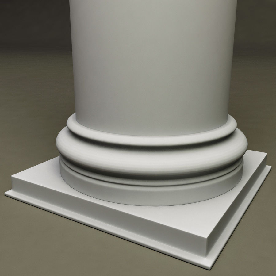 Ionic Order Column royalty-free 3d model - Preview no. 4