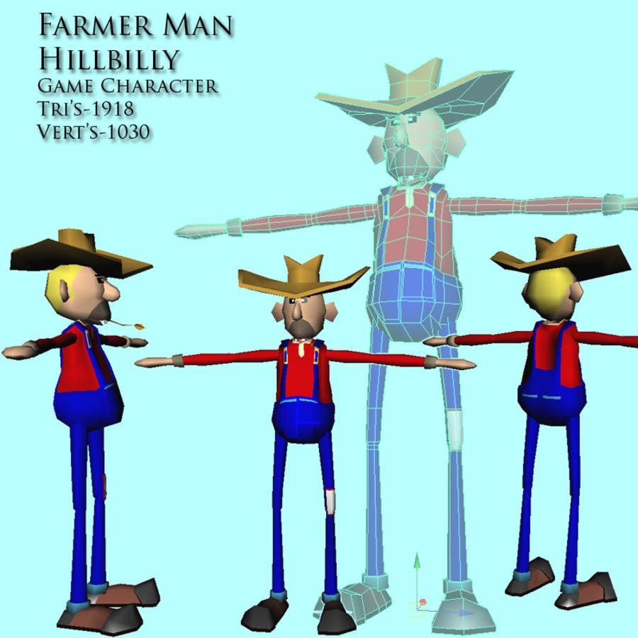 HillBilly farmer Guy 3D Model $15 -  unknown  obj  ma  fbx
