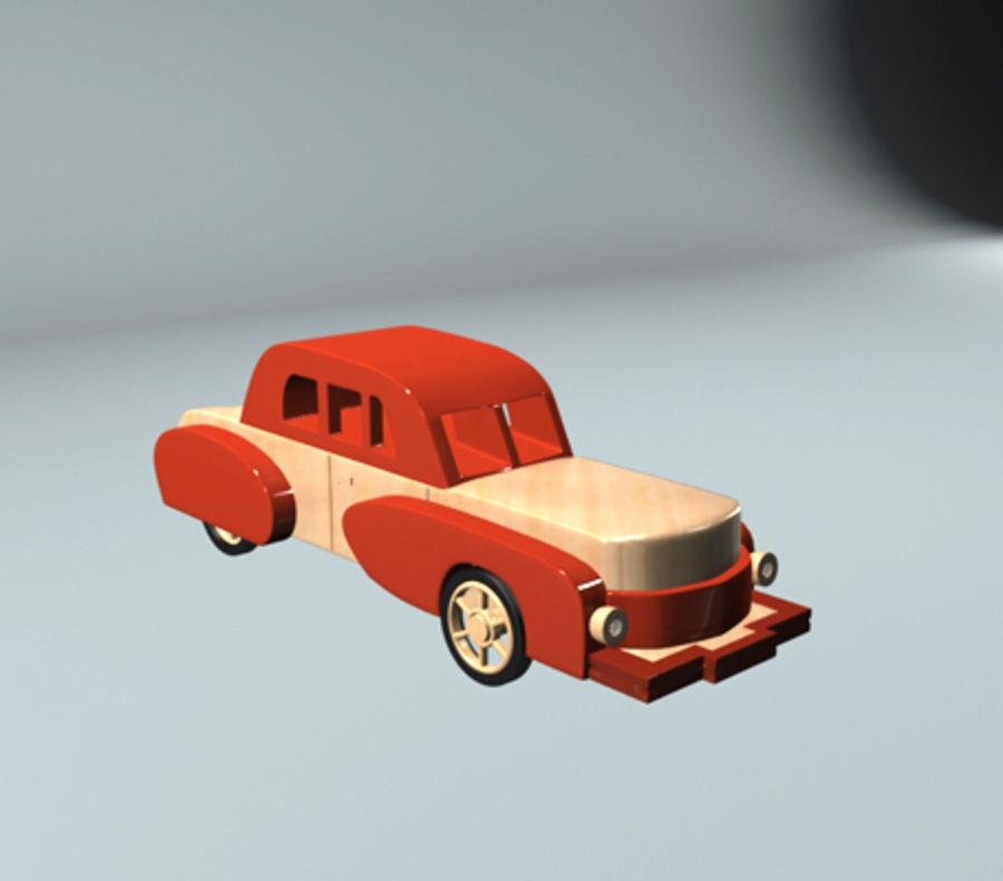 carro de brinquedo dos desenhos animados royalty-free 3d model - Preview no. 4