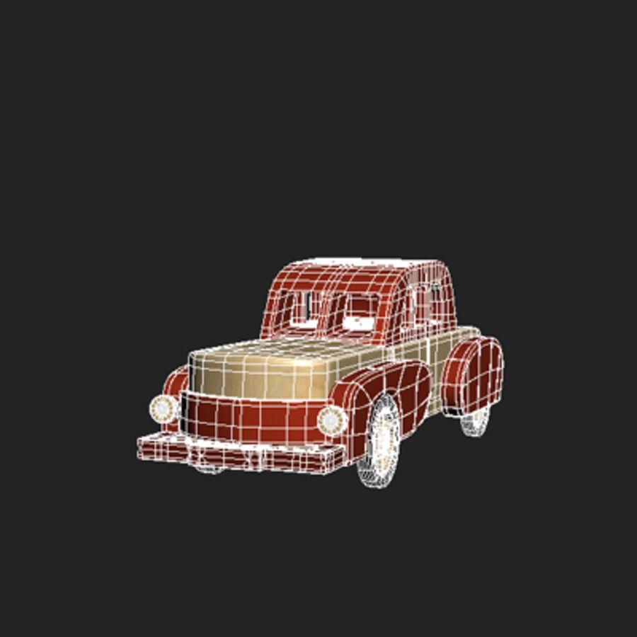 carro de brinquedo dos desenhos animados royalty-free 3d model - Preview no. 5