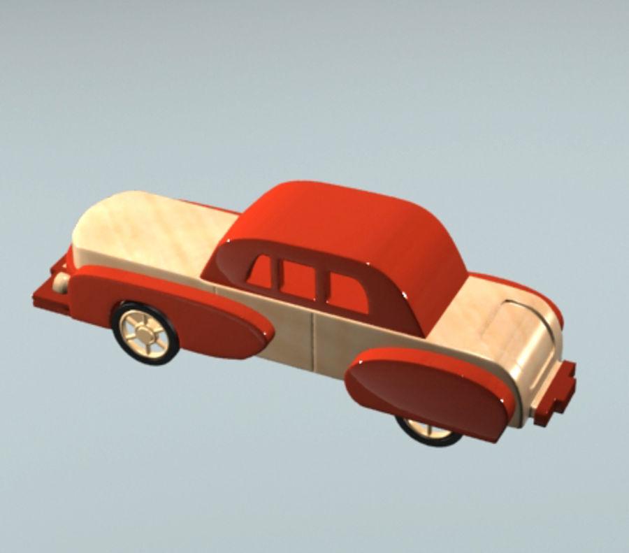 carro de brinquedo dos desenhos animados royalty-free 3d model - Preview no. 2