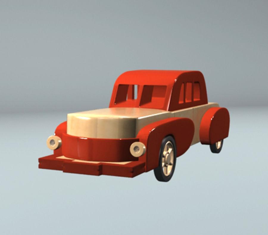 carro de brinquedo dos desenhos animados royalty-free 3d model - Preview no. 3