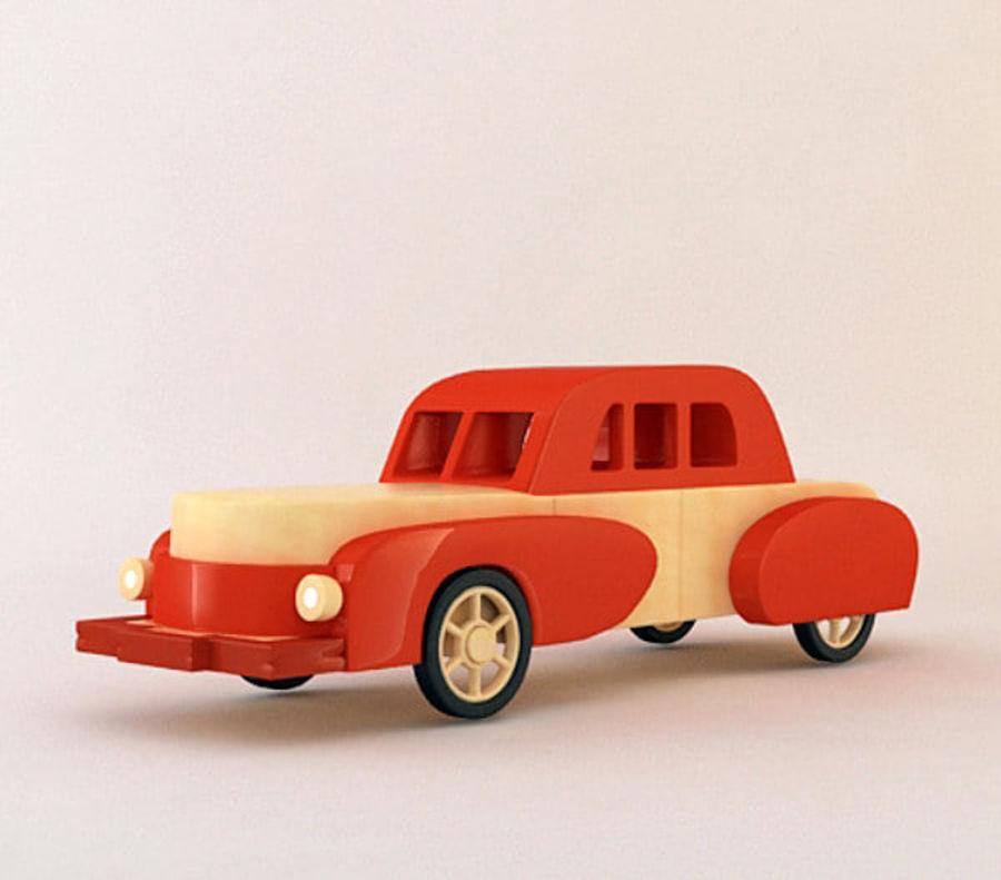 carro de brinquedo dos desenhos animados royalty-free 3d model - Preview no. 6