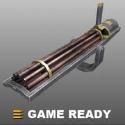 Low Poly - Gatling Gun 3d model