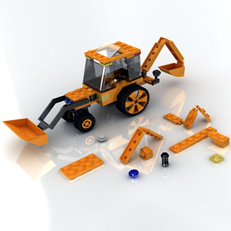 LEGO Traktor leksak royalty-free 3d model - Preview no. 3