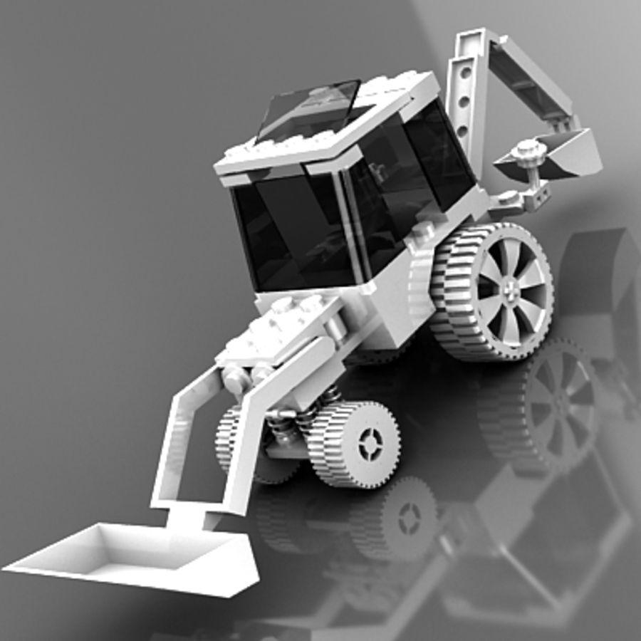 LEGO Traktor leksak royalty-free 3d model - Preview no. 5