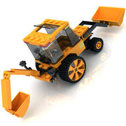 LEGO Tractor toy 3d model