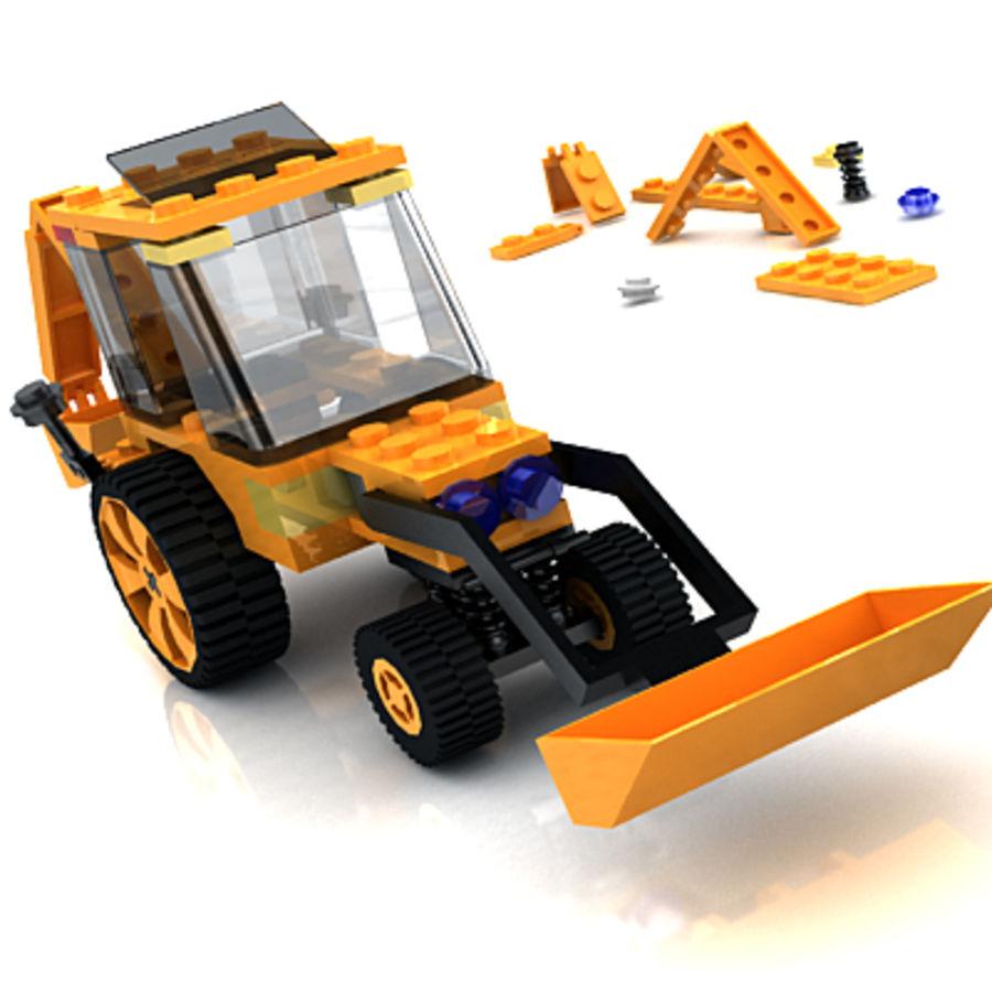 LEGO Traktor leksak royalty-free 3d model - Preview no. 4