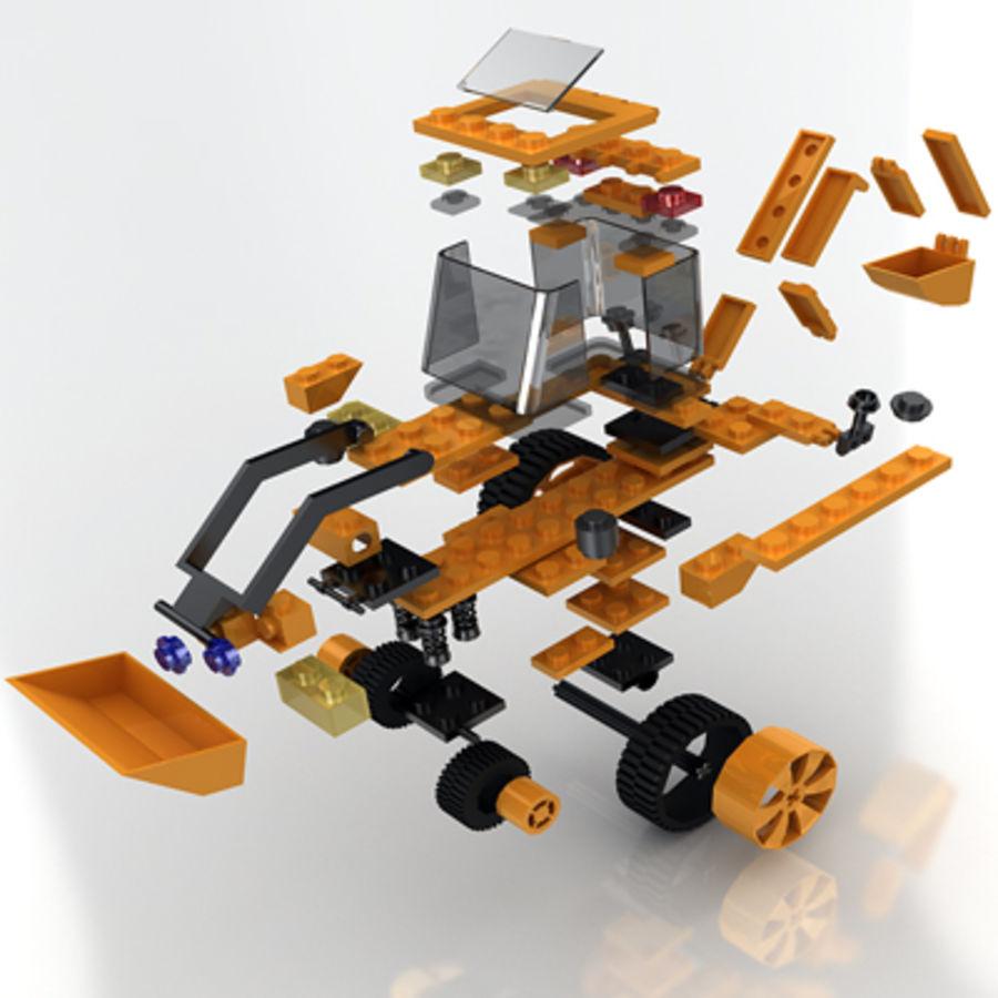 LEGO Traktor leksak royalty-free 3d model - Preview no. 2