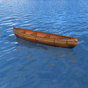 Canoe boat (indean) 3d model