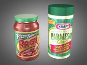 Parmesan Cheese and Pizza Sauce 3d model