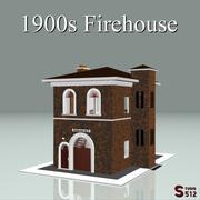 Estación de bomberos de 1900 modelo 3d