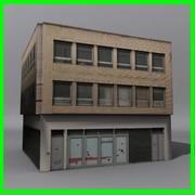 低ポリ建物02 3d model