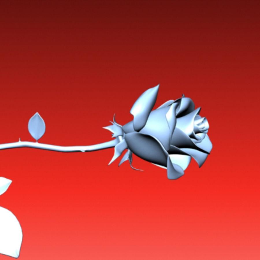 rose porcelain(1) royalty-free 3d model - Preview no. 3