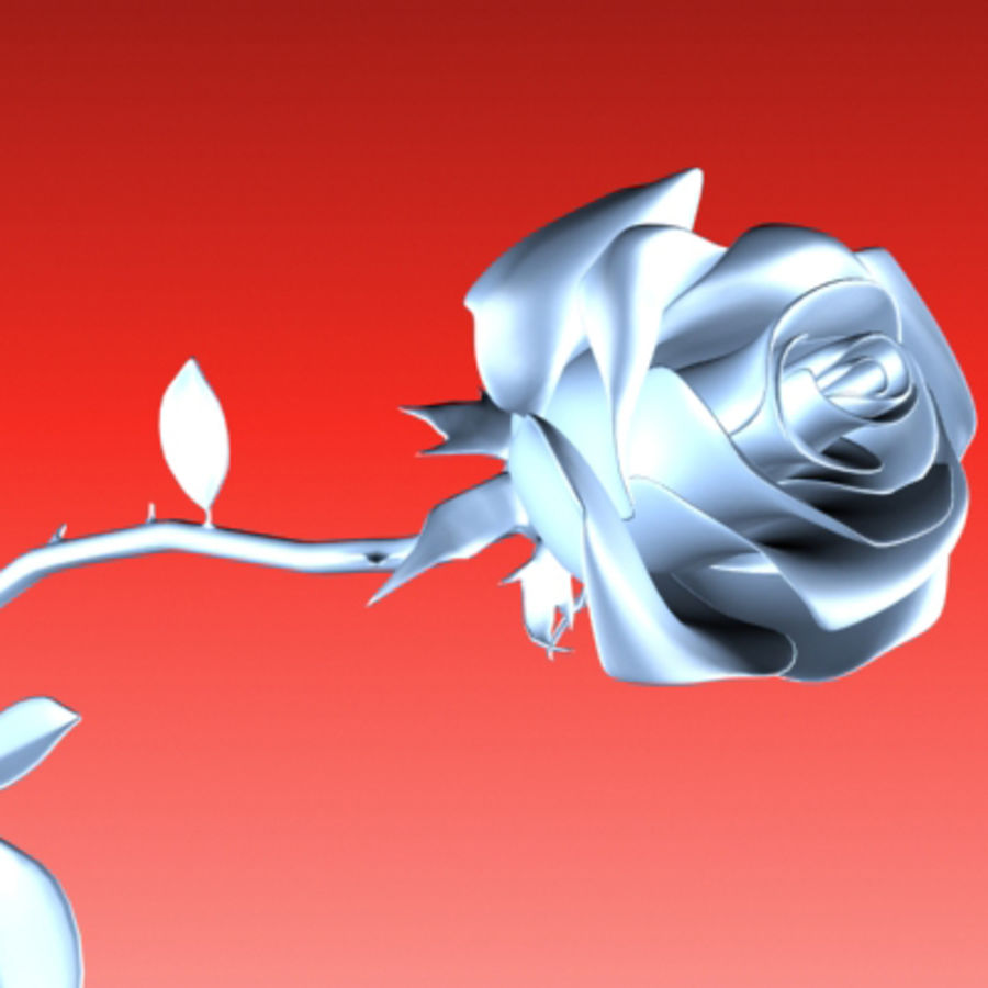 rose porcelain(1) royalty-free 3d model - Preview no. 1