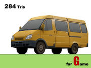 gazel bus lowpoly 3d model