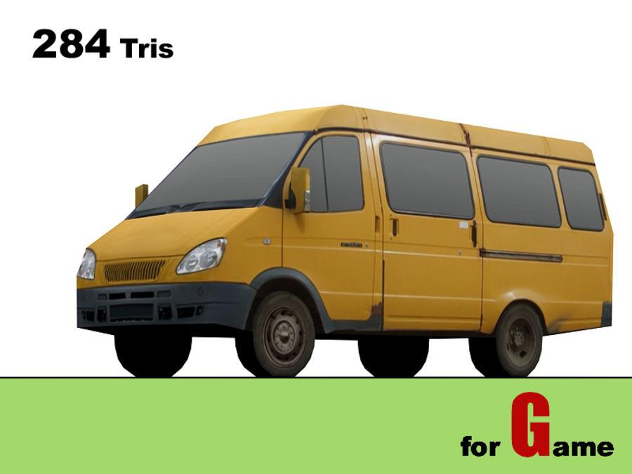gazel bus lowpoly royalty-free 3d model - Preview no. 1