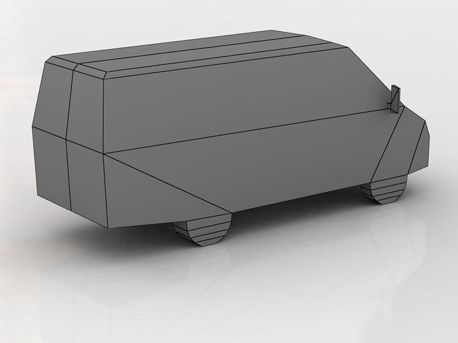 gazel bus lowpoly royalty-free 3d model - Preview no. 5