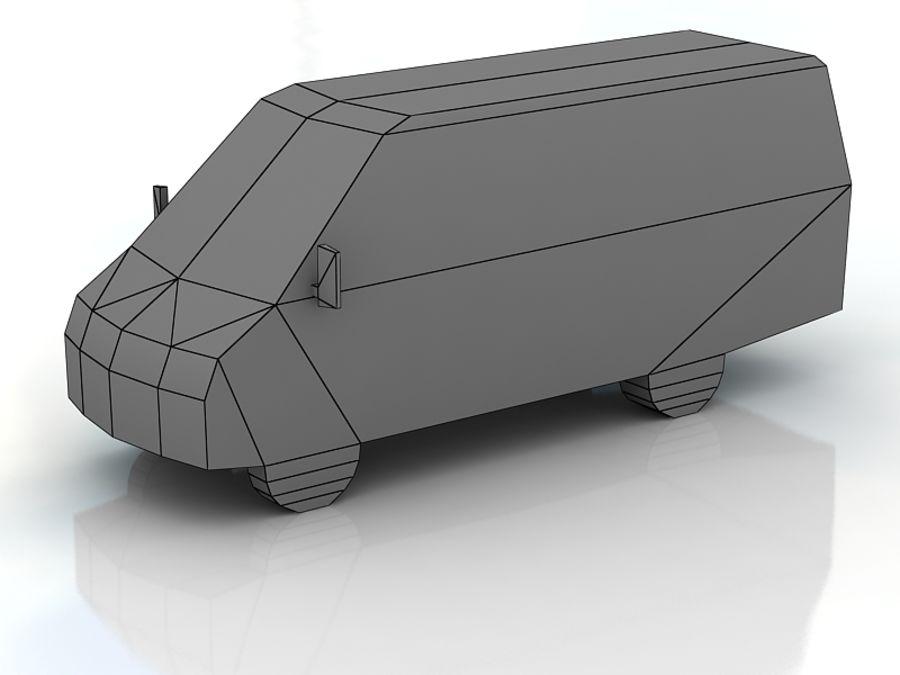 gazel bus lowpoly royalty-free 3d model - Preview no. 3