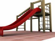 攀爬滑道 3d model