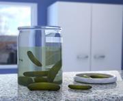 Pickle Jar & Pickles 3d model