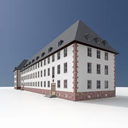 Old German Building 3d model