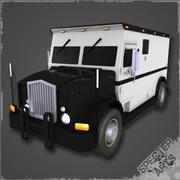Camion corazzato 3d model