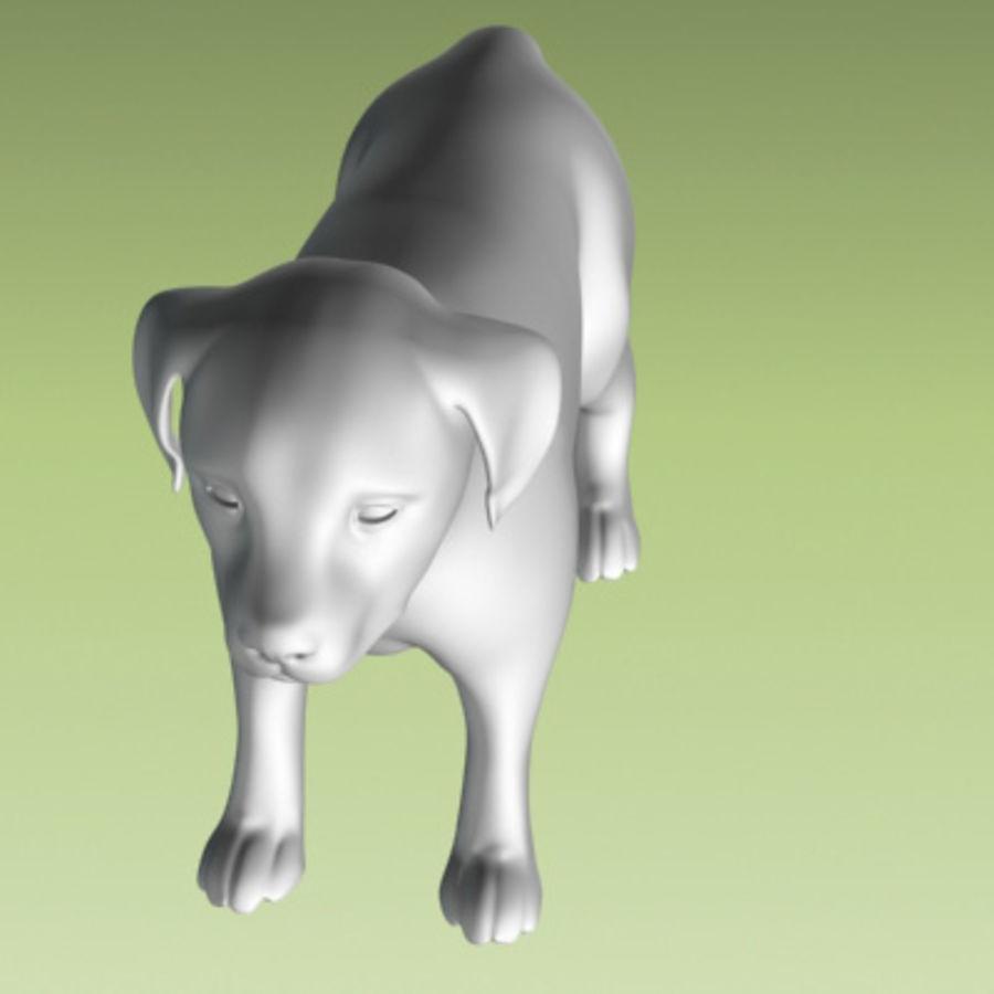 köpek yavrusu heykeli royalty-free 3d model - Preview no. 6