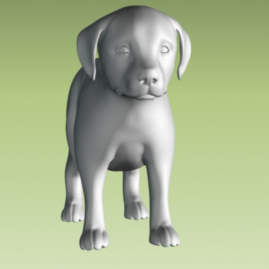 estátua do filhote de cachorro royalty-free 3d model - Preview no. 2