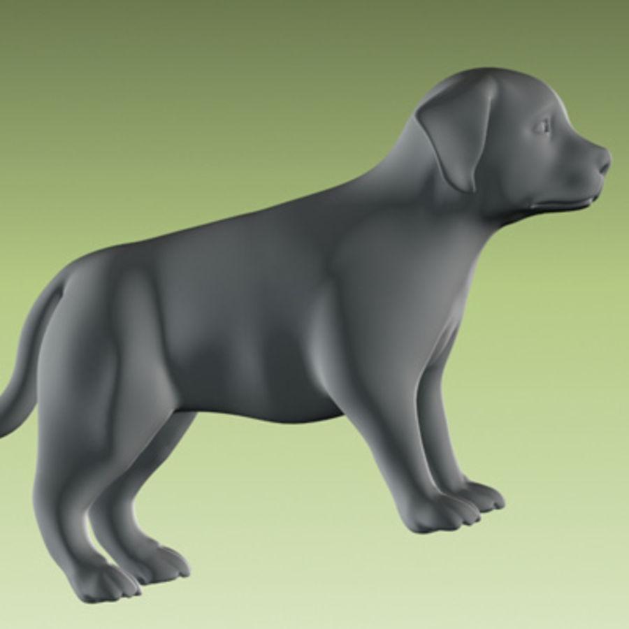 köpek yavrusu heykeli royalty-free 3d model - Preview no. 4