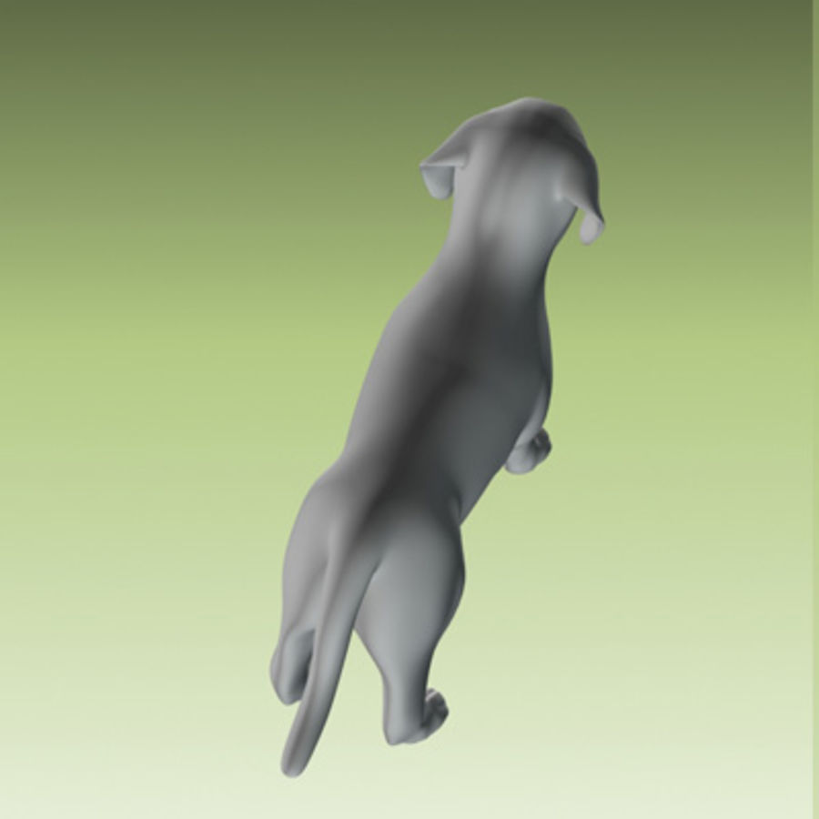 estátua do filhote de cachorro royalty-free 3d model - Preview no. 3