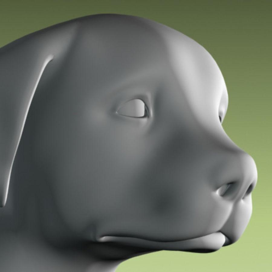 köpek yavrusu heykeli royalty-free 3d model - Preview no. 1