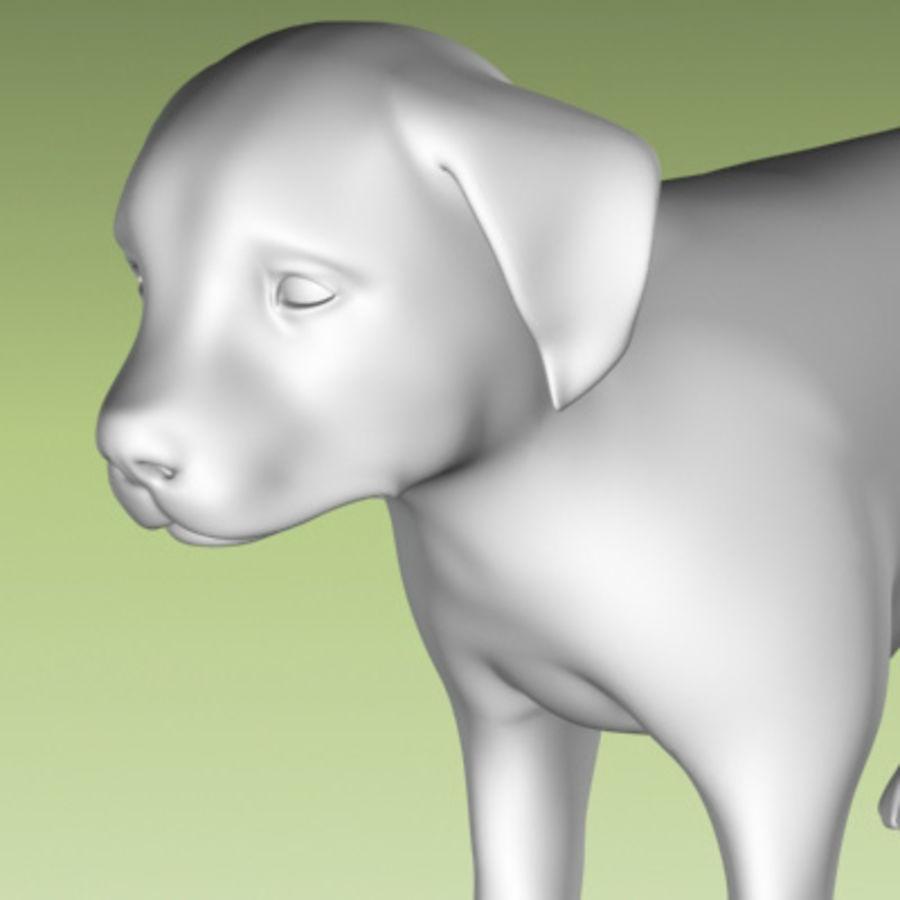 köpek yavrusu heykeli royalty-free 3d model - Preview no. 7